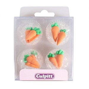 Culpitt Sugar Pipings - Carrots (Pack of 12)
