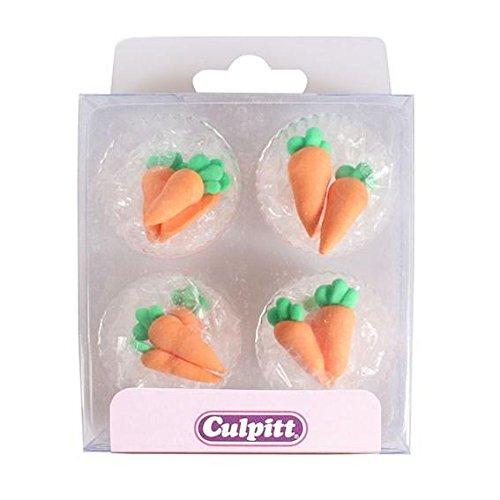 Culpitt Sugar Pipings - Carrots (Pack of 12)
