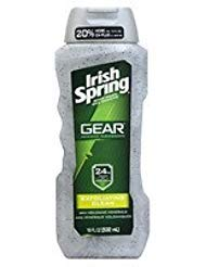 Irish Spring Gear Body Wash Exfoliating, 18 oz - 2pc