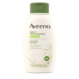 Aveeno Daily Moisturizing Body Wash with Soothing Oat, Creamy Shower Gel, Soap-Free and Dye-Free, Light Fragrance, 12 fl. oz