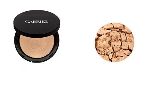 Gabriel Cosmetics, Powder Foundation Medium Beige, 0.32 Ounce