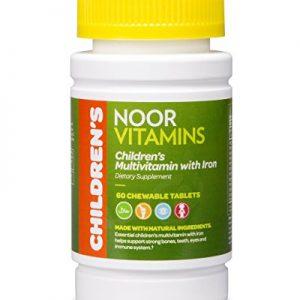 NoorVitamins Children's Chewable Multivitamins with Iron - 60 Chewable Tablets - Halal Vitamins