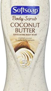 Softsoap Body Butter Coconut Scrub, Body Buff Wash 15 oz (Pack of 1)