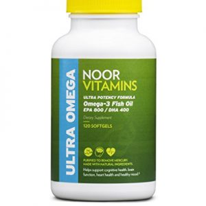 NoorVitamins Omega 3 Fish Oil Pills - ULTRA POTENCY FORMULA - 1200mg EPA/DHA Per Serving - 120 Softgels - Halal Vitamins (1)