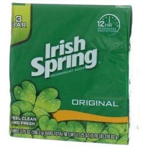 Irish Spring Deodorant Soap Original Bar, 3 Bars 3.75 Ounce