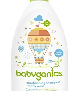 Babyganics Conditioning Fragrance Free Baby Shampoo and Bodywash, 3 Count