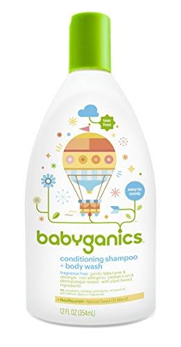 Babyganics Conditioning Fragrance Free Baby Shampoo and Bodywash, 3 Count