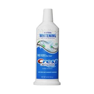 Crest Complete Multi-Benefit Extra Whitening Tartar Protection Clean Mint Flavor Toothpaste, 5.8 Oz