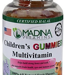 Madina Vitamins CHILDREN's GUMMY MULTIVITAMINS (90 Fun Animal Shaped Gummies Supplements Complete Multi-Vitamins) Made in USA - Halal Vitamins