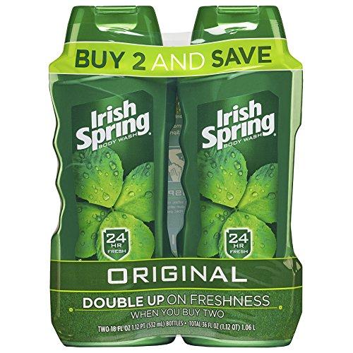 Irish Spring Body Wash, Original, 18 fluid ounce (Pack of 2)