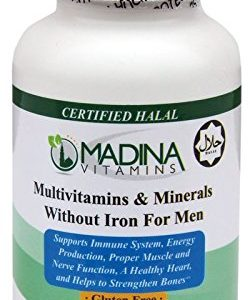 Madina Vitamins Multivitamins and Minerals for Men without Iron with LYCOPENE (60 Tablets Daily Supplement) - Halal Vitamins