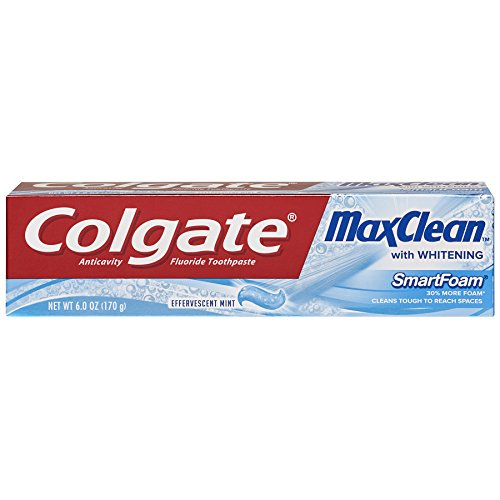 Colgate MaxClean Smartfoam Foaming Toothpaste, Mint, 6 Ounce