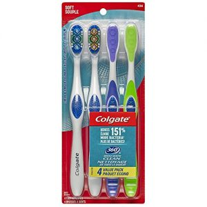 Colgate 360 Adult Full Head Soft Toothbrush (4 Count)