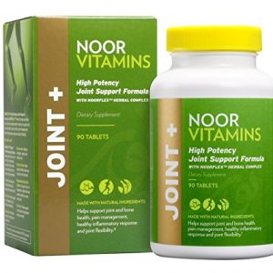 NoorVitamins Joint Health Supplement - Halal Vitamins - High Potency Joint Support with 1500mg Glucosamine, Turmeric, Vitamin D and NOORFLEX Herbal Complex for Pain, Aches & Inflammation - 90 Tablets