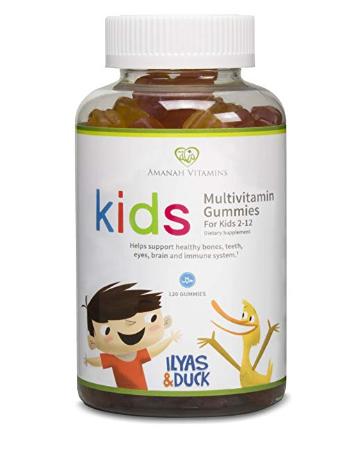 AMANAH VITAMINS - ILYAS & DUCK Children's Multivitamin Gummies - HALAL VITAMINS - 120 Count