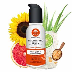 Organic Aloe Vera Brightening Serum Gel for Face and Body. 1,7 Fl. Oz.
