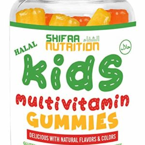 SHIFAA NUTRITION Halal, Vegan & Vegetarian Gummy Multivitamins for Adults | with 11 Vitamins, Minerals & Antioxidants | Non-GMO & Free of Preservatives, Gluten, Nuts, Dairy & Soy - 90 Gummies