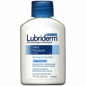 Lubriderm Daily Moisture Lotion, Fragrance Free 1 oz ( Pack of 3)
