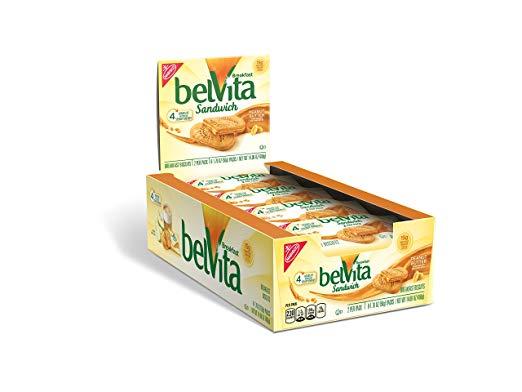Belvita Sandwich Biscuits, Peanut Butter, 14.08 Ounce