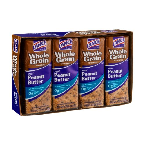 Lance Whole Grain Peanut Butter Cracker Packs - 8 CT