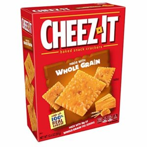 Cheez-it Baked Snack Cheese Crackers, Whole Grain, 12.4 oz Box