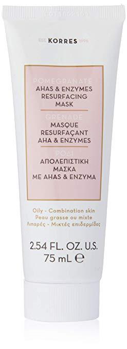 KORRES Pomegranate Ahas & Enzyme Resurfacing Mask, 2.54 fl. oz.