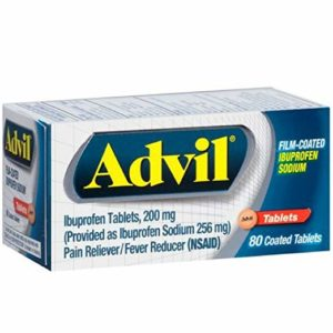 Advil Film-Coated Ibuprofen 200 mg Tablets 80 ea
