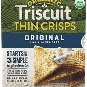 Triscuit Thin Crisps Organic Original Crackers (Pack of 6) Non-GMO