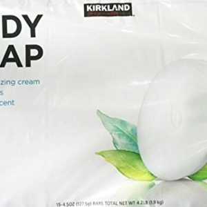 5 Wholesale Lots Kirkland Signature Body Soap 15 Bars per Pack, 75 Bars Total