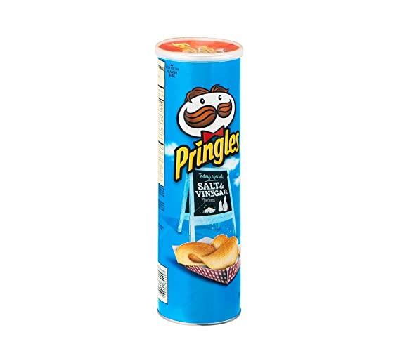 Pringles Potato Crisps, Salt and Vinegar, 5.96 Ounce