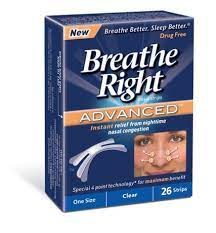 Breathe Right Advanced, Clear Nasal Strips, 10 Strips (1 Box)