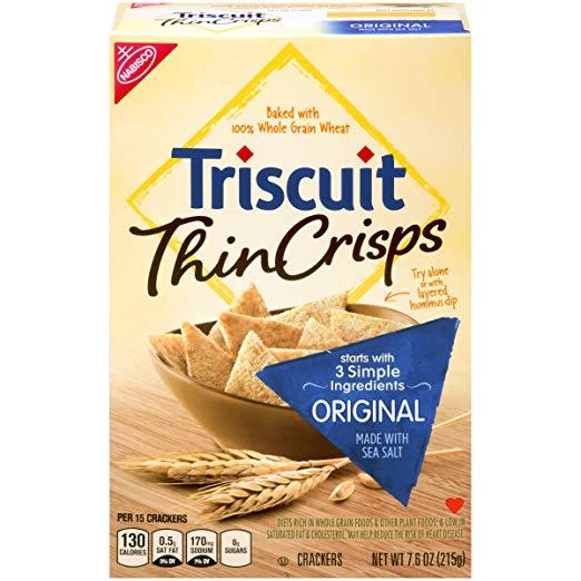 Triscuit Thin Crisps Original Crackers, Non-GMO, 7.6 Ounce