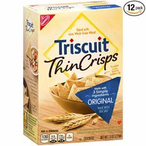 Triscuit Thin Crisps Original Crackers, 7.6 oz (Pack of 12)
