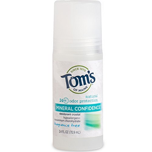 Tom's Of Maine Mineral Confidence Deodorant Crystal, Fragrance Free 2.40 oz ( Pack of 2)