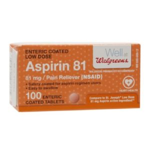 Walgreens Aspirin Low Dose Enteric Coated Tablets 81 Mg, 100 Ea