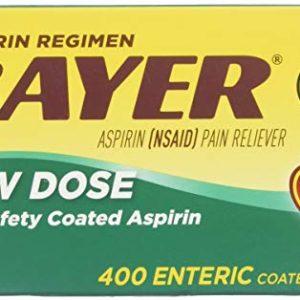 Bayer Aspirin Regimen Low Dose 81mg, Enteric Coated Tablets, 400-Count
