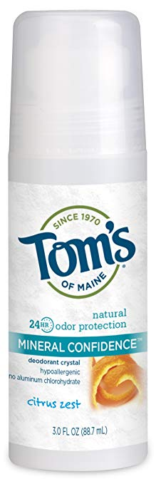 Tom's of Maine Fragrance Free Natural Confidence Roll-On Deodorant, 3 oz