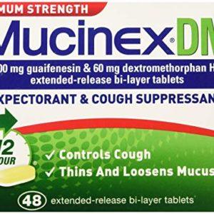 SCS Mucinex DM Expectorant & Cough Suppressant - Maximum Strength - 42 ct.