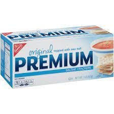 Premium Original Saltine Crackers, 16 Ounce Boxes (Pack of 4)