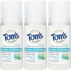 Tom's of Maine Mineral Confidence Deodorant Roll-On, Fragrance Free - 2.4 oz - 3 pk
