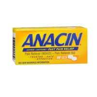 Anacin Anacin Pain Relief Aspirin Tablets, 100 tabs (Pack of 2)