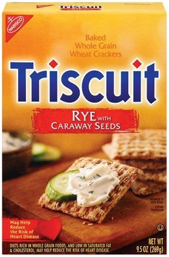 Triscuit, Rye with Caraway Seeds, 9oz (Pack of 3)