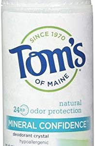 Tom's of Maine Natural Confidence Roll-On Deodorant, Fragrance-Free, 3 Ounce, (Pack of 6)