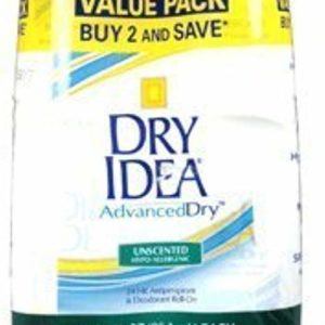 Advanced Dry Idea Roll On Antiperspirant and Deodorant, Unscented, Twin Pack - 3.25 Oz Ea