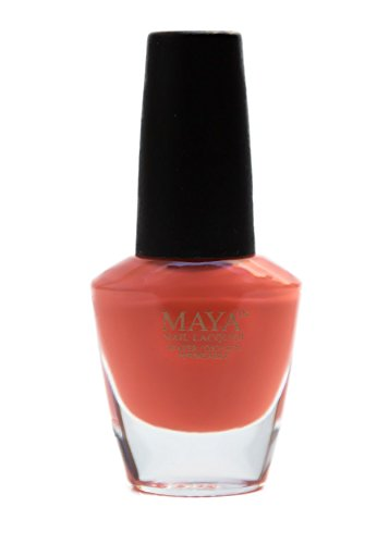 "MAYA Nail Lacquer (Orange Zest). Breathable, Made in the USA, and ""9-FREE"""