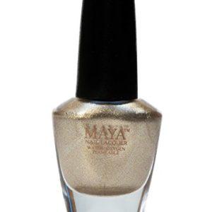 "MAYA Nail Lacquer (Gold Digger). Breathable, Made in the USA, and ""9-FREE"""