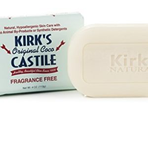 Kirk's Natural Bar Soap, Original Castile - 4 oz (Pack of 8)