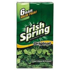 Irish Spring Deodorant Soap Original 3.75 oz (6 Pack)