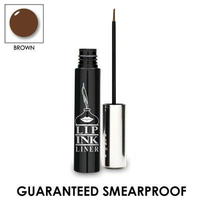 LIP INK 100% Smearproof Waterproof Liquid Eyeliner - Brown