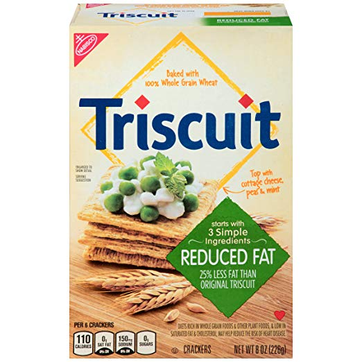 Triscuit Reduced Fat Crackers, 8 Ounce